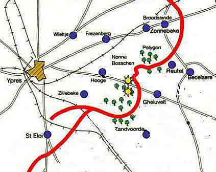 Map of Cheshire positions at Nonne Bosschen